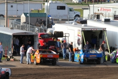 Crews prepare for another action packed night at Boone Speedway on Saturday, May 21, 2011.