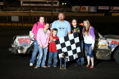Fans cheered Donny Watson to victory in the IMCA Hobby Stock division on Saturday, May 28, 2011.