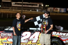 The IMCA Stock Cars welcomed Eric Born to victory lane on Saturday, May 28, 2011.