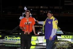 Austin Luellen motored his way to victory lane on Saturday, May 5, 2012, at Boone Speedway.