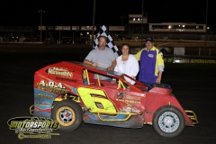 Mike Morrill took top spot in the Mod Lite division at Boone Speedway on Saturday, May 5, 2012.