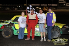 Jerry Gifford led the IMCA Stock Cars to victory lane Saturday, May 5, 2012, at Boone Speedway.