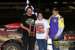 Randy Roberts took the checkered flag on Saturday, May 5, 2012, in the IMCA SportMod division at Boone Speedway.