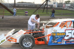Race preparations at the Boone Speedway on Saturday, May 7, 2011