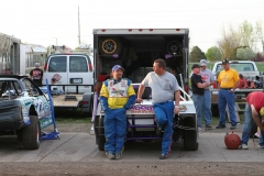 Drivers, fans and crew members enjoy a good time at Iowa's Action Track in Boone, Iowa, on Saturday, May 7, 2011