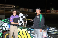 Josh Modde captured the checkers in the IMCA Northern SportMod division at Boone Speedway on Saturday, May 7, 2011.