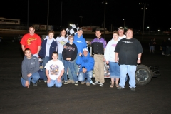 Mike Molle took the checkers on Saturday, May 7, 2011, at Boone Speedway in the IMCA Modified division