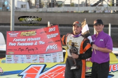 Michael Murphy Jr led from start to finish in the Memorial Day running of the Deery Brothers Summer Series for IMCA Late Models at Boone Speedway on Monday, May 28, 2012.