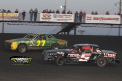 IMCA Hobby Stock action on Monday, May 28, 2012, at Boone Speedway.