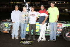 Michael Murphy took the lead on lap 5 of the IMCA Stock Car feature and brought home the win at Boone Speedway on Monday, May 28, 2012.