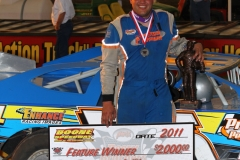 Andy Eckrich took the top spot in the Deery Brother Summer Series at Boone Speedway on Monday, May 30, 2011.