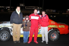 Alan Van Gorp in Victory Lane on Saturday, April 16, 2011 at Boone Speedway