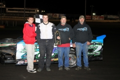 Eric Elliott in Victory Lane on Saturday, April 16, 2011 at Boone Speedway