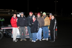 Josh Gilman in Victory Lane on Saturday, April 16, 2011 at Boone Speedway
