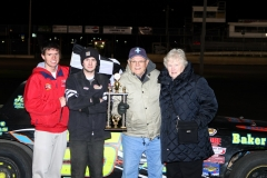 Michael Murphy in Victory Lane at Saturday, April 16, 2011 at Boone Speedway