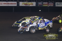 IMCA SportMod action from Saturday, April 28, 2012, at Boone Speedway.