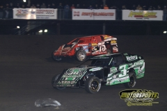 IMCA Modified action from Saturday, April 28, 2012, at Boone Speedway.
