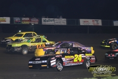 IMCA Stock Car action from Saturday, April 28, 2012, at Boone Speedway.