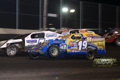 IMCA Modified action at the 2012 Frostbuster at Boone Speedway on Saturday, April 7, 2012.