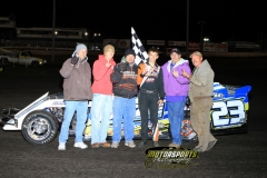 Nick Roberts took the checkers in the IMCA Northern SportMod division during the 2012 Frostbuster at Boone Speedway on Saturday, April 7, 2012.