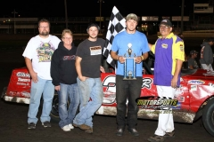 August 11, 2012 Hobby Stock Winner Aaron Rudolph