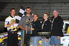 August 25, 2012 Stock Car Winner Jay Schmidt