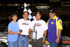 August 4, 2012 SportMod Winner Austin Lucas