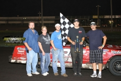 August 4, 2012 Hobby Stock Winner Aaron Rudolph