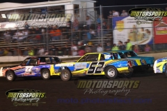 IMCA Hobby Stock action at Boone Speedway on Saturday, August 3, 2013.