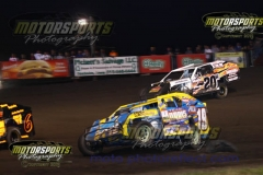 IMCA Modified action at Boone Speedway on Saturday, August 3, 2013.