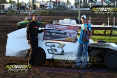 IMCA Modified driver Randy Havlik led every lap of the Chassis Challenge at Boone Speedway on Saturday, August 3, 2013.