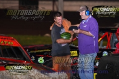 Shannon Anderson took the lead in the IMCA Hobby Stock feature on lap nine and never looked back on Saturday, August 3, 2013, at Boone Speedway.