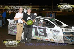 Taylor Musselman took home his first feature win of the season at Boone Speedway in his IMCA Northern SportMod on Saturday, August 3, 2013.