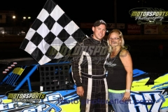 Brandon Williams led the IMCA Northern SportMods to the checkers for his second win of the season at Boone Speedway on Saturday, June 13, 2013.