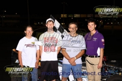 Mod Lite driver Ed Zehm took the lead early on and never looked back, making his Saturday, July 13, 2013, win his first of the season at Boone Speedway.
