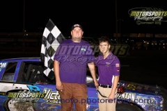 Eric Stanton started eleventh and worked his IMCA Hobby Stock to the front by lap 10, bringing home his second victory of the season at Boone Speedway on Saturday, June 13, 2013.
