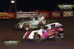 Mod Lite action from Boone Speedway on Saturday, June 13, 2013.