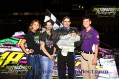Jake Durbin took the lead with just a handful of laps in the books and held on for his second win of the season on Saturday, June 13, 2013, at Boone Speedway.