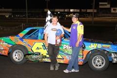 July 21, 2012 Hobby Stock Feature 2 Winner Scott Pippert
