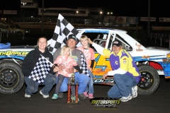 Leading flag to flag, IMCA Stock Car driver Cory Bushnell was the winner on Saturday, June 2, 2012 at Boone Speedway.