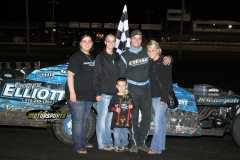 The IMCA SportMods welcomed Eric Elliot to victory lane for the second week in a row on Satuday, June 2, 2012, at Boone Speedway.