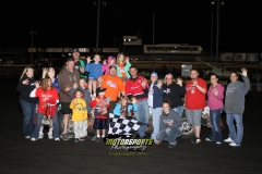 John Watson finished with his sixth feature win this season in the IMCA Hobby Stocks at Boone Speedway on Saturday, June 2, 2012.