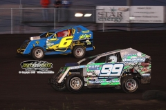 Mod Lite action at Boone Speedway on Saturday, June 29, 2013.
