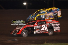 IMCA Modified action at Boone Speedway on Saturday, June 29, 2013.
