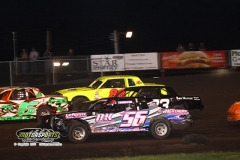 IMCA Hobby Stock action at Boone Speedway on Saturday, June 29, 2013.