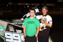 Mod Lite driver Josh May took the lead on lap nine and held on for his first win of the season at Boone Speedway on Saturday, June 29, 2013.