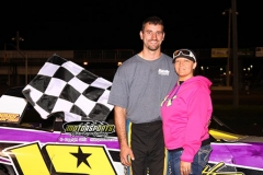 IMCA Stock Car driver Jay Schmidt had the lead by lap two and took home the win at Boone Speedway on Saturday, June 29, 2013.