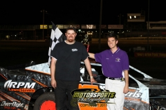 Randy Roberts took home the top spot in the IMCA SportMods at Boone Speedway on Saturday, June 4, 2011.
