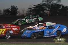 IMCA Modified action at Boone Speedway on Saturday, May 12, 2012.