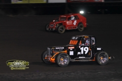 Mod Lite action at Boone Speedway on Saturday, May 12, 2012.